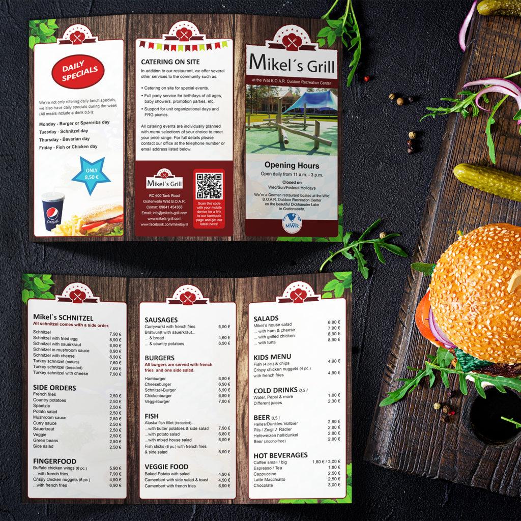 Memaba-Design-Print-Druck-Flyer-Speisekarte-Mikels-Grill
