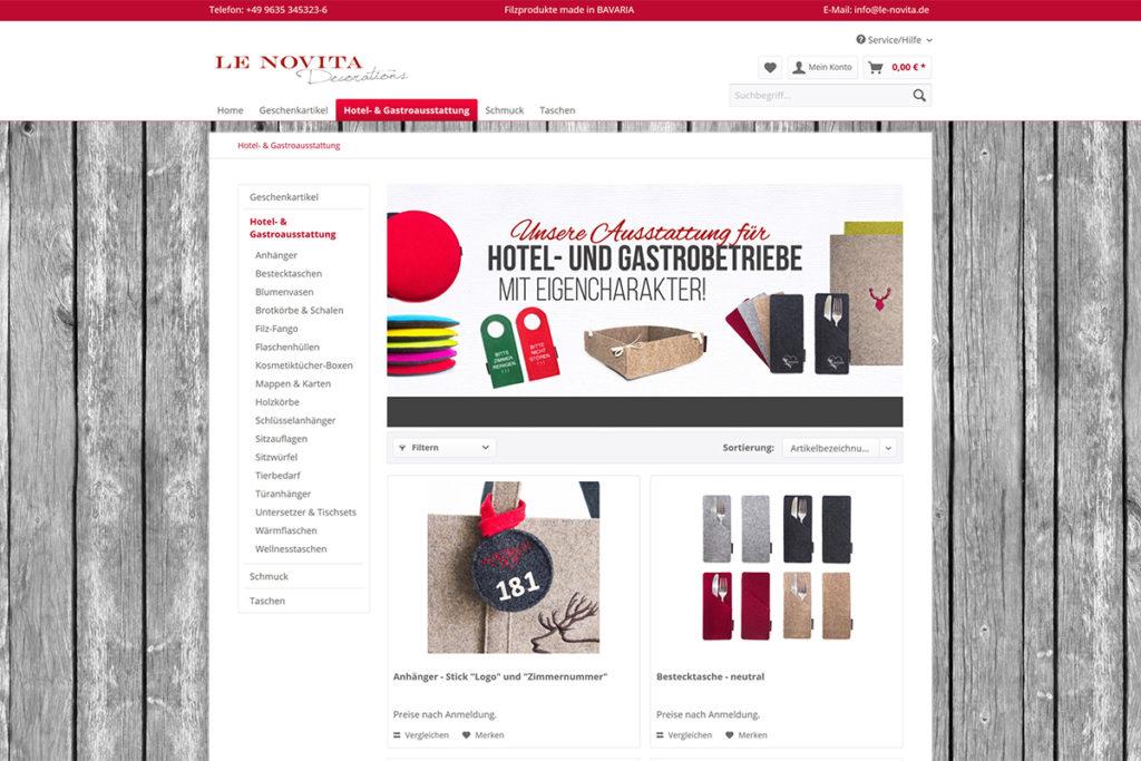 E-Commerce Referenz Le-Novita