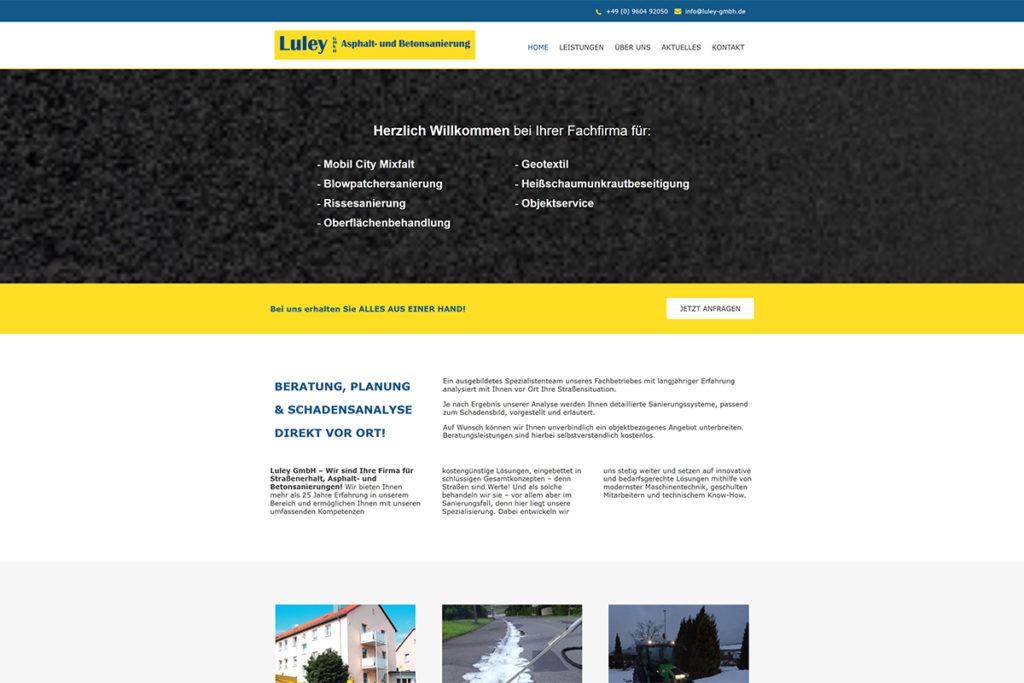 Referenz Webdesign Luley