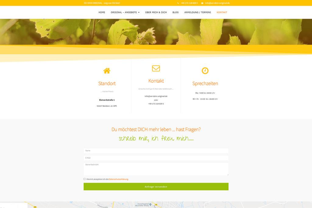 Referenz Webdesign Sei dein Original
