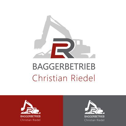 Memaba Design Logo Baggerbetrieb