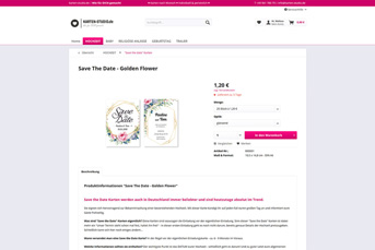 E-Commerce Onlineshop kartenstudio.de