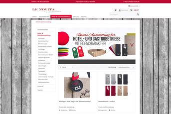 E-Commerce Onlineshop Le Novita